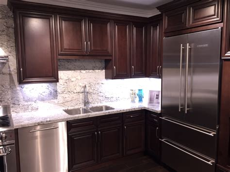 Kitchen Cabinets by Walnut Colored Cherry Kitchen Cabinets