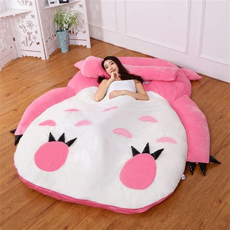 colors large totoro single  double bed giant totoro