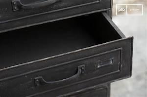 Poignée Meuble Industriel : semainier brown factory meuble m tal de style industriel pib ~ Teatrodelosmanantiales.com Idées de Décoration