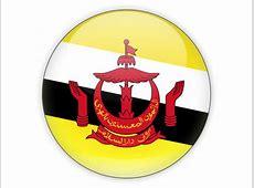 Round icon Illustration of flag of Brunei