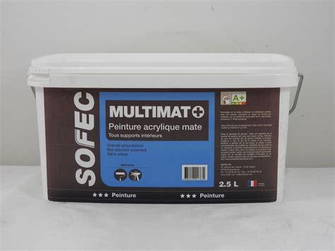 peinture acrylique blanche peinture acrylique blanche multimat sofec 2 5l sofec 2366820012462 peinture lasure vernis pas