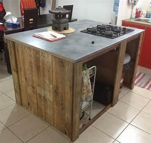 Meuble De Cuisine En Palette : meuble cuisine ilot central cuisine en image ~ Dode.kayakingforconservation.com Idées de Décoration