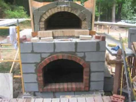 wood fired brick pizza oven construction youtube