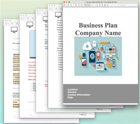 website design  development business plan sample pages
