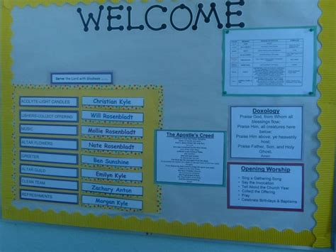 images  sunday school bulletin boards