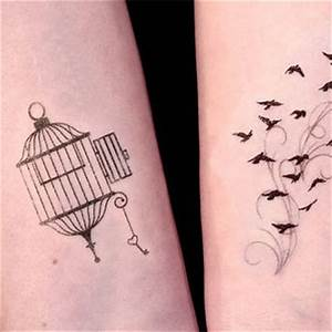 Open Cage and Birds in Flight Temporary from TattooMint on ...