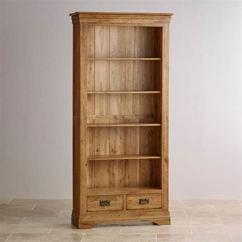 solid oak bookcases in seven sizes french farmhouse tall bookcase solid oak oak furniture