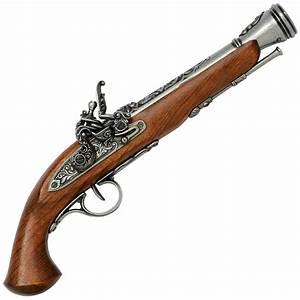 Flintlock Pistol, 18th. Century - Steel » English ...
