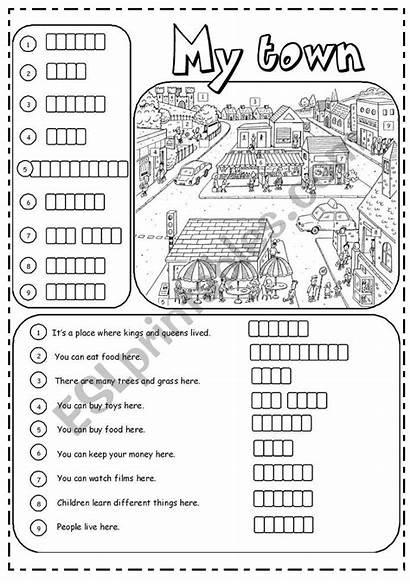 Town Places Worksheet Worksheets Vocabulary Esl