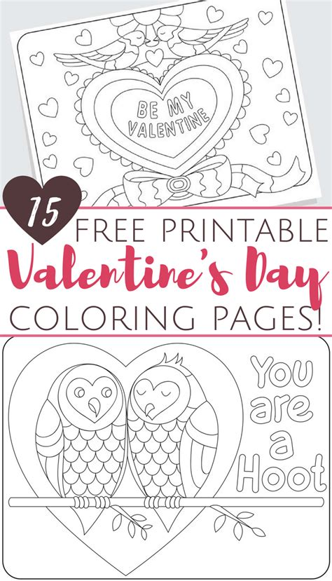 printable valentines day coloring pages  adults  kids