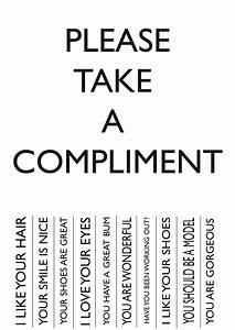 can you accept a compliment the power of quotthank youquot With take what you need template