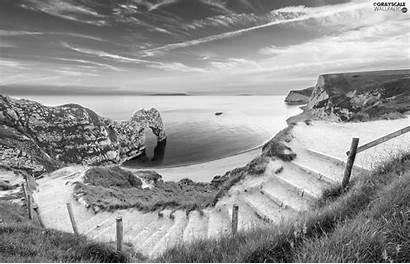 Durdle Coast Stairs Sunrise Door Jurassic England