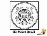 Coloring Pages Flag Guard Coast Army American Seal Yescoloring Flags Military Navy Ship Veterans National Boys Usa Armed Forces Seals sketch template