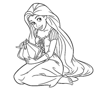 Coloring Rapunzel by Tangled Coloring Pages Coloringsuite