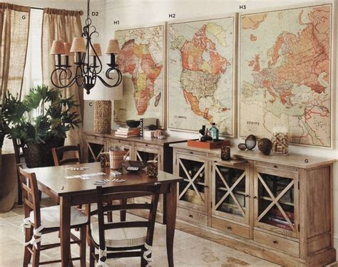 Vintage Map Decor Def Doing This And Marking All The