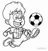 Football Coloring Pages Player Printable Cool2bkids sketch template