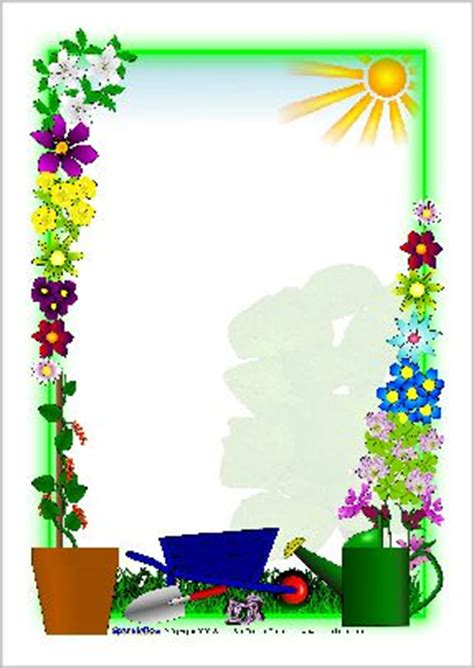 plant growing  page borders sb sparklebox page