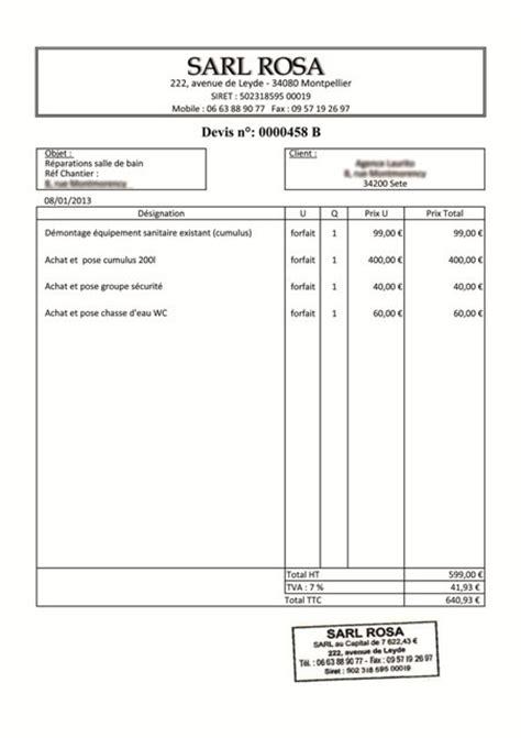 Bien-aimé modele de facture traiteur – Modele Devis – Invoice Home WX81