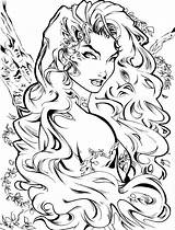 Ivy Poison Deviantart Coloring Pages Dc Adult Comics Artcrawl Drawing Character Books Comic Batman Printable Lillian Pamela Isley Line Colouring sketch template