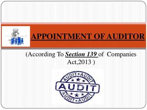 appointment  auditor
