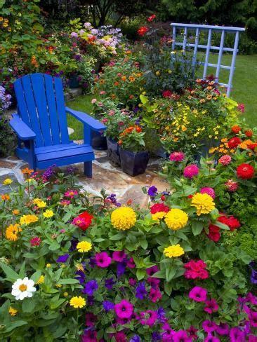 Backyard Garden Florist by Backyard Flower Garden With Chair Photographic Print By