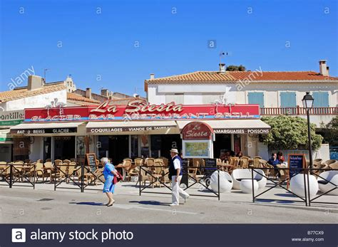 restaurant les saintes maries de la mer camargue bouches du rhone stock photo royalty free