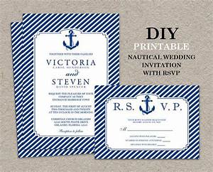 diy printable nautical wedding invitation and rsvp card With nautical wedding invitations with rsvp