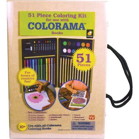 colorama  piece coloring kit walmartcom