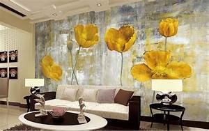 Wall Art Tapeten : gelbe blume foto tapeten wandbilder wohnzimmer schlafzimmer wand kunst wohnkultur malerei papier ~ Markanthonyermac.com Haus und Dekorationen