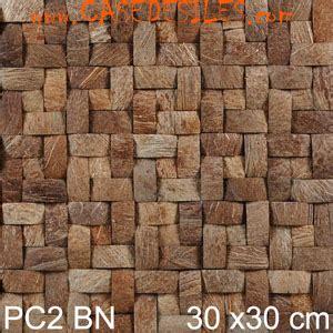 rev 234 tement mural naturel coques noix de coco pc2bn pas cher