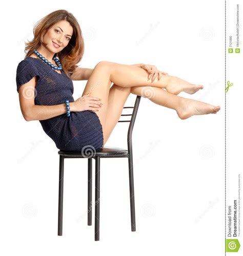 sitting on chair stock photo image 7121890