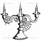 Stampotique Candelabra Coloring Joggles sketch template