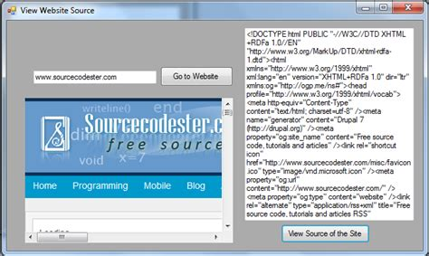 view source of a website free source code tutorials and articles