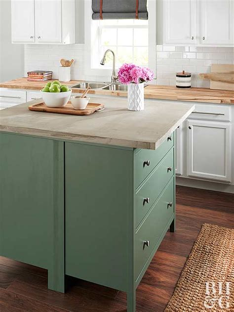 permanent kitchen islands small kitchen islands better homes gardens