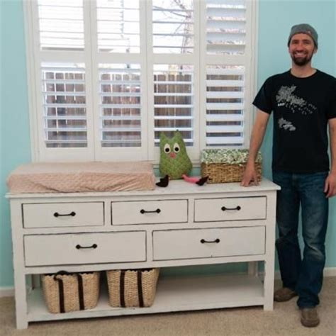 how to make a changing table plans for dresser changing table woodworking projects