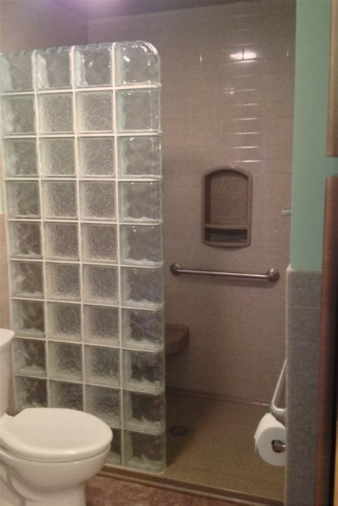 accessible bathroom remodel  akron  solid surface