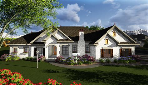 One Story European House Plan