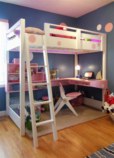 loft bed plans  desk bed plans diy blueprints