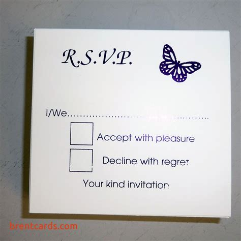 Blank Rsvp Wedding Cards