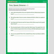 Time, Speed, Distance 1  Free Distance Worksheets  Math Blaster