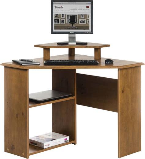 french country corner computer desk felix home office wooden corner computer desk in brown oak