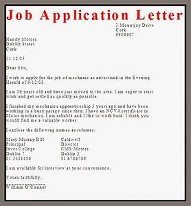 business letter examples job application letter With what is a covering letter when applying for a job