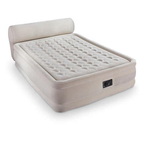 air mattress on intex dura beam air bed with headboard 665217 air