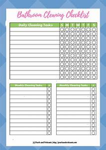 the ultimate guide to a clean bathroom With bathroom cleaning schedule form
