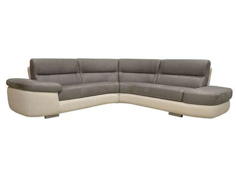 magasin canap canapé d 39 angle fixe droit 4 places alban coloris blanc
