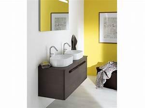 salle de bains jaunes 32 idees pour une decoration lumineuse With salle de bain porcelanosa prix