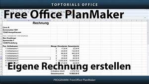 Openoffice Rechnung Erstellen : eigene rechnung erstellen mehrwertsteuer freeoffice planmaker toptorials ~ Themetempest.com Abrechnung
