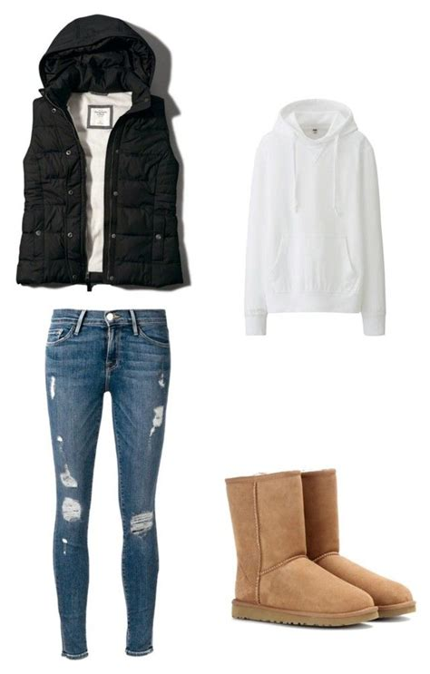 Fall Puffer Vest Outfit With Hoodie And Uggs Vest