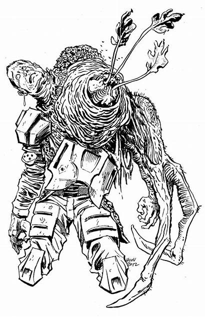 Halo Flood Coloring Pages Draw Ark War