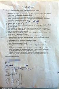 reddit user writes up 39dog contract39 his 3 daughters have With pet waste pick up letter